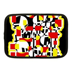 Red And Yellow Chaos Netbook Case (medium)  by Valentinaart