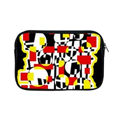 Red And Yellow Chaos Apple Ipad Mini Zipper Cases by Valentinaart