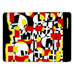 Red And Yellow Chaos Samsung Galaxy Tab Pro 12 2  Flip Case by Valentinaart