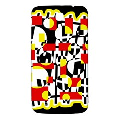 Red And Yellow Chaos Samsung Galaxy Mega I9200 Hardshell Back Case by Valentinaart