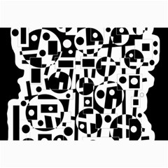 Black And White Abstract Chaos Collage Prints by Valentinaart