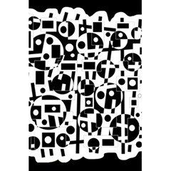 Black And White Abstract Chaos 5 5  X 8 5  Notebooks by Valentinaart