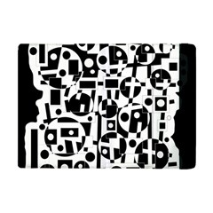 Black And White Abstract Chaos Apple Ipad Mini Flip Case by Valentinaart