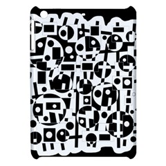 Black And White Abstract Chaos Apple Ipad Mini Hardshell Case by Valentinaart