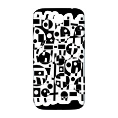 Black And White Abstract Chaos Samsung Galaxy S4 I9500/i9505  Hardshell Back Case by Valentinaart