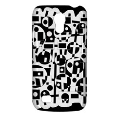 Black And White Abstract Chaos Galaxy S4 Mini by Valentinaart