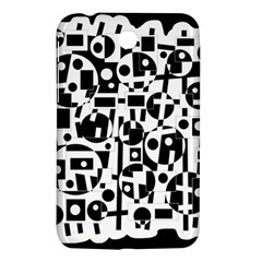 Black And White Abstract Chaos Samsung Galaxy Tab 3 (7 ) P3200 Hardshell Case  by Valentinaart