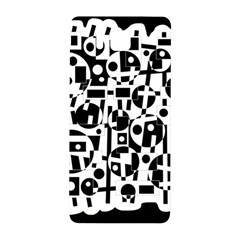 Black And White Abstract Chaos Samsung Galaxy Alpha Hardshell Back Case by Valentinaart