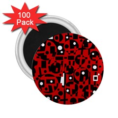 Red 2 25  Magnets (100 Pack)  by Valentinaart