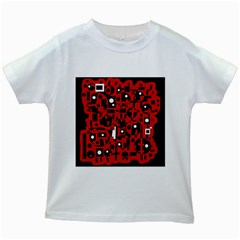 Red Kids White T Shirts