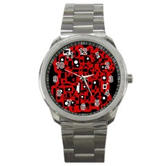 Red Sport Metal Watch by Valentinaart