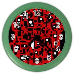 Red Color Wall Clocks