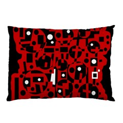 Red Pillow Case by Valentinaart
