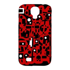 Red Samsung Galaxy S4 Classic Hardshell Case (pc+silicone) by Valentinaart