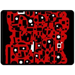 Red Double Sided Fleece Blanket (large)  by Valentinaart
