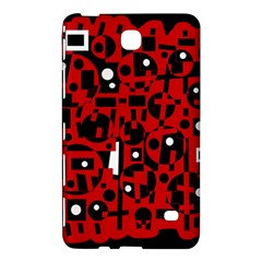 Red Samsung Galaxy Tab 4 (7 ) Hardshell Case  by Valentinaart
