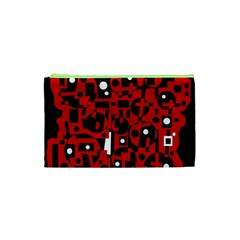 Red Cosmetic Bag (xs) by Valentinaart