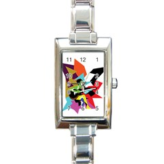 Singer Rectangle Italian Charm Watch by azureprinceinc