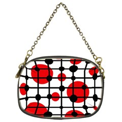Red Circles Chain Purses (one Side)  by Valentinaart