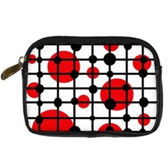 Red Circles Digital Camera Cases by Valentinaart