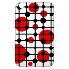Red Circles Samsung Galaxy Tab 3 (8 ) T3100 Hardshell Case