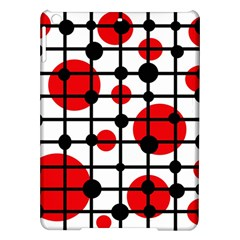 Red Circles Ipad Air Hardshell Cases by Valentinaart