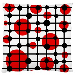 Red Circles Standard Flano Cushion Case (one Side) by Valentinaart