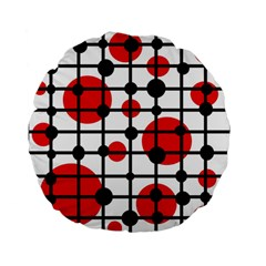 Red Circles Standard 15  Premium Flano Round Cushions by Valentinaart