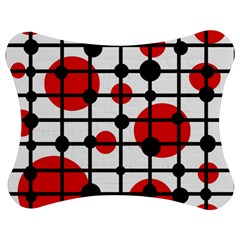Red Circles Jigsaw Puzzle Photo Stand (bow) by Valentinaart