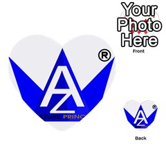 Azure Prince Multi Purpose Cards (heart)  by azureprinceinc
