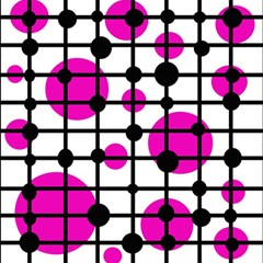 Magenta Circles Magic Photo Cubes by Valentinaart