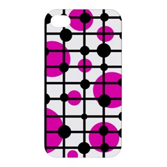 Magenta Circles Apple Iphone 4/4s Hardshell Case
