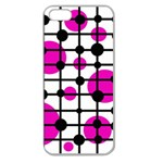 Magenta circles Apple Seamless iPhone 5 Case (Clear) Front