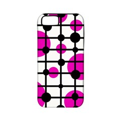 Magenta Circles Apple Iphone 5 Classic Hardshell Case (pc+silicone) by Valentinaart