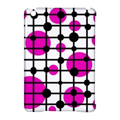 Magenta Circles Apple Ipad Mini Hardshell Case (compatible With Smart Cover) by Valentinaart