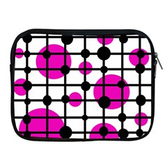 Magenta Circles Apple Ipad 2/3/4 Zipper Cases by Valentinaart