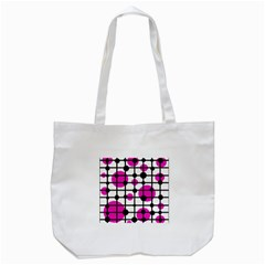 Magenta Circles Tote Bag (white) by Valentinaart