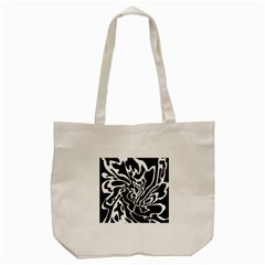 Black And White Decor Tote Bag (cream) by Valentinaart