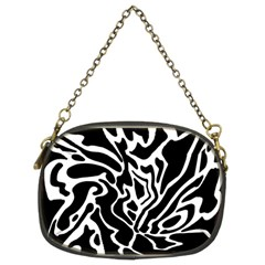 Black And White Decor Chain Purses (two Sides)  by Valentinaart