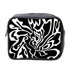 Black And White Decor Mini Toiletries Bag 2 Side by Valentinaart