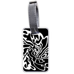 Black And White Decor Luggage Tags (one Side)  by Valentinaart