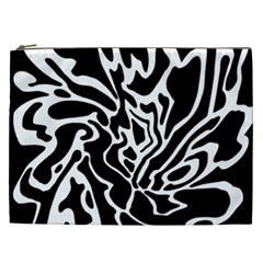 Black And White Decor Cosmetic Bag (xxl)  by Valentinaart