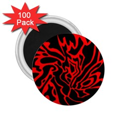 Red And Black Decor 2 25  Magnets (100 Pack)  by Valentinaart