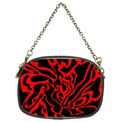 Red And Black Decor Chain Purses (two Sides)  by Valentinaart