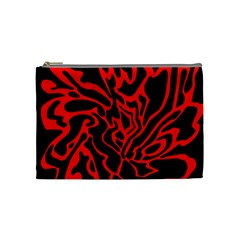 Red And Black Decor Cosmetic Bag (medium)  by Valentinaart