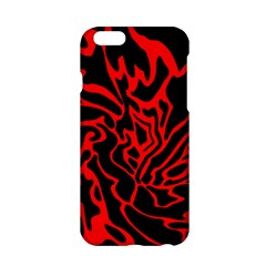 Red And Black Decor Apple Iphone 6/6s Hardshell Case by Valentinaart