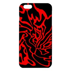 Red And Black Decor Iphone 6 Plus/6s Plus Tpu Case by Valentinaart