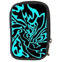 Cyan Decor Compact Camera Cases by Valentinaart