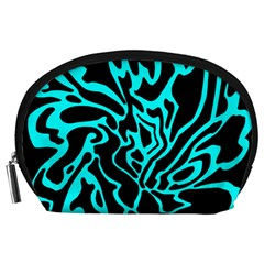 Cyan Decor Accessory Pouches (large)  by Valentinaart