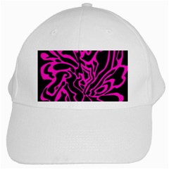 Magenta And Black White Cap by Valentinaart